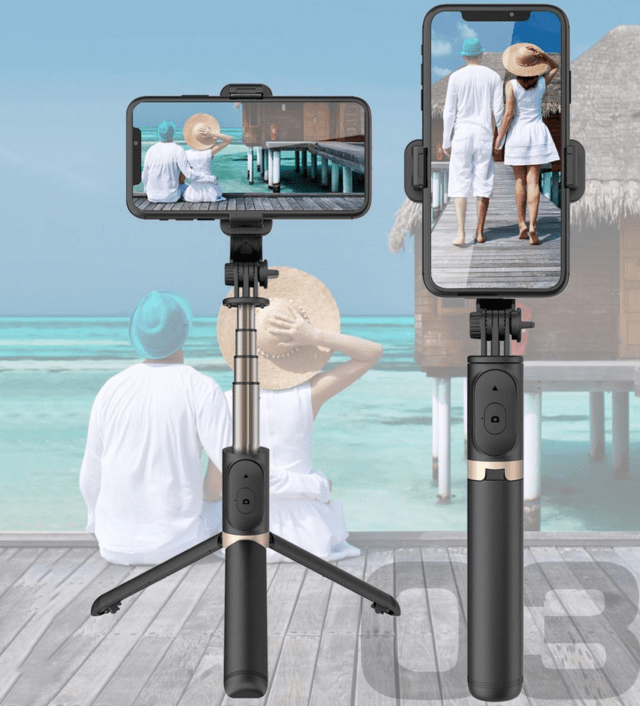 FANGTUOSI aluminum alloy Wireless Bluetooth Selfie Stick Foldable Monopods Universal Tripod for Smartphones for Action Cameras