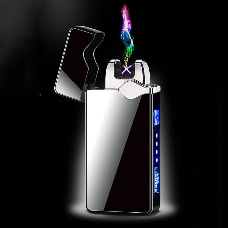 Electric Double Arc Lighter with Power Display