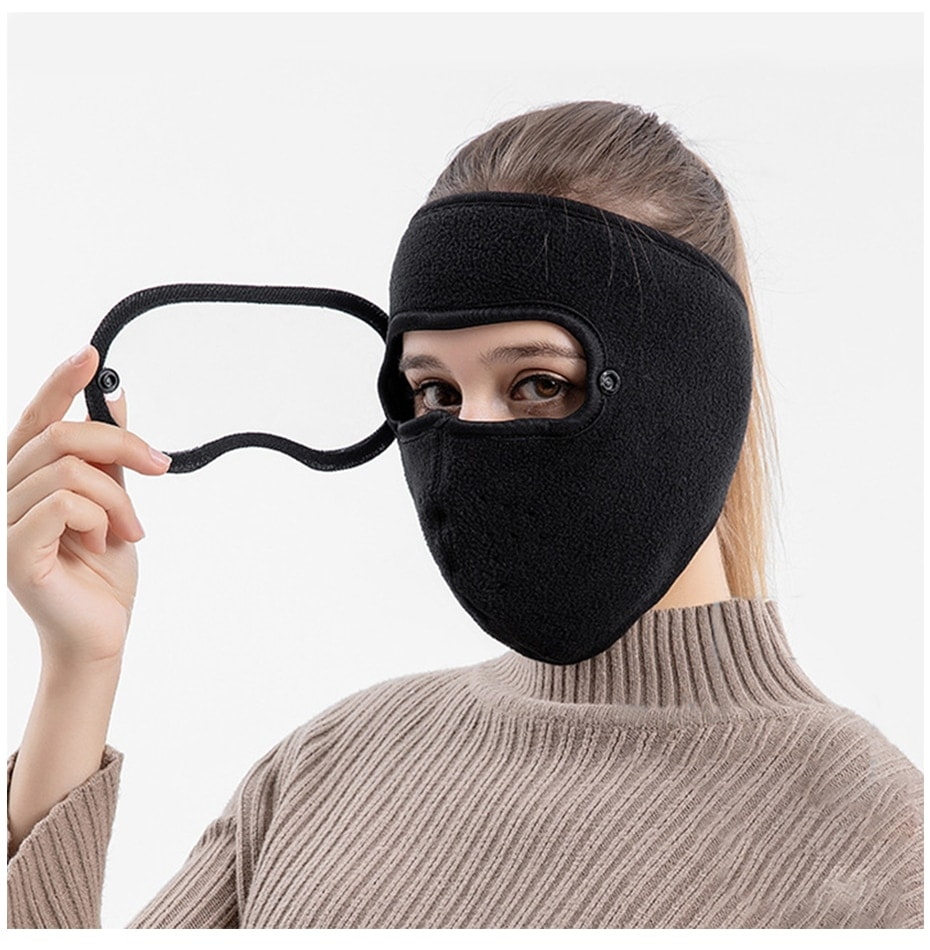 Definition GOGGLES ANTI FOG Mask Ski Hat Caps Autumn And Winter Thickened Hat Warm Masked Hat Suede Riding windproof high