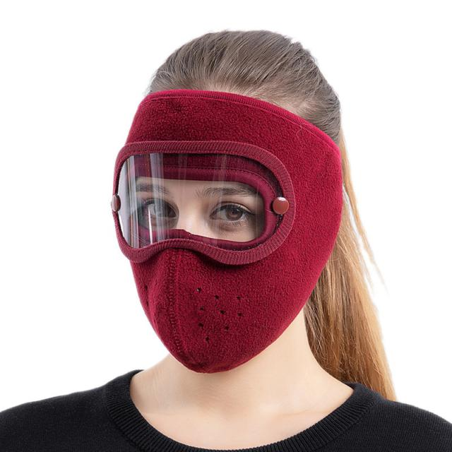 GOGGLES ANTI FOG Mask Ski Hat Caps Autumn And Winter Thickened Hat Warm Masked Hat Suede Riding windproof high