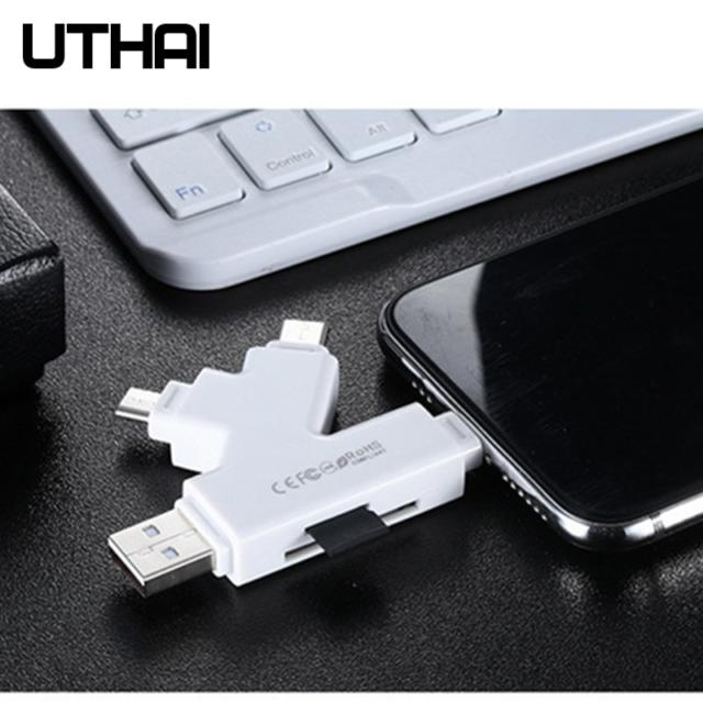 Card Reader SD TF USB C to MicroUSB Multi Card readers 4in1 Type-C Flash Drive For iPhone 7 8 11 X XR MAX, iPad, Mac