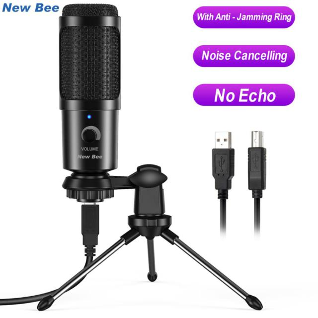 USB Microphone PC condenser Microphone Vocals Recording Studio Microphone for YouTube Video Skype Chatting Game Podcast