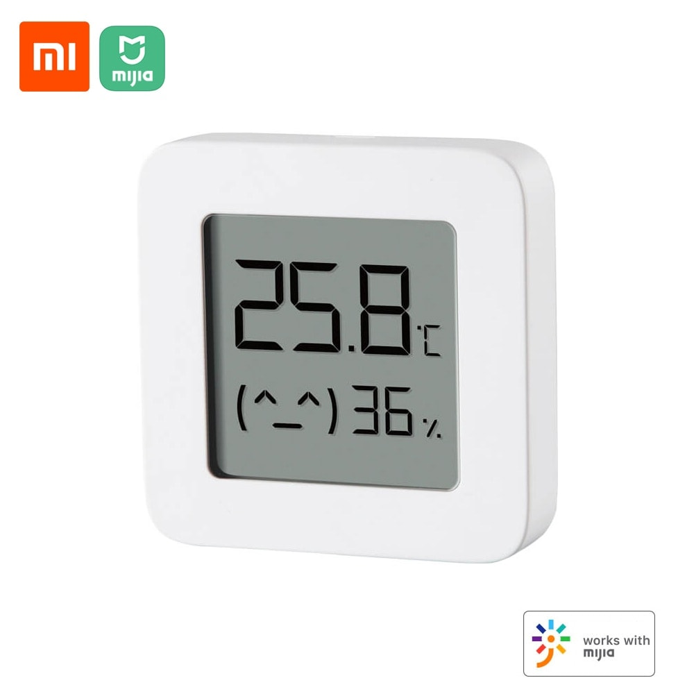 Xiaomi BT Thermometer 2 Wireless Smart Electric Digital Hygrometer Humidity Sensor Work with Mijia APP white thermometer