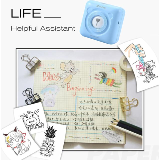 Portable Thermal Bluetooth Printer Mini Photo Pictures Printer For Mobile Android iOS Phone 58mm Pocket Machine