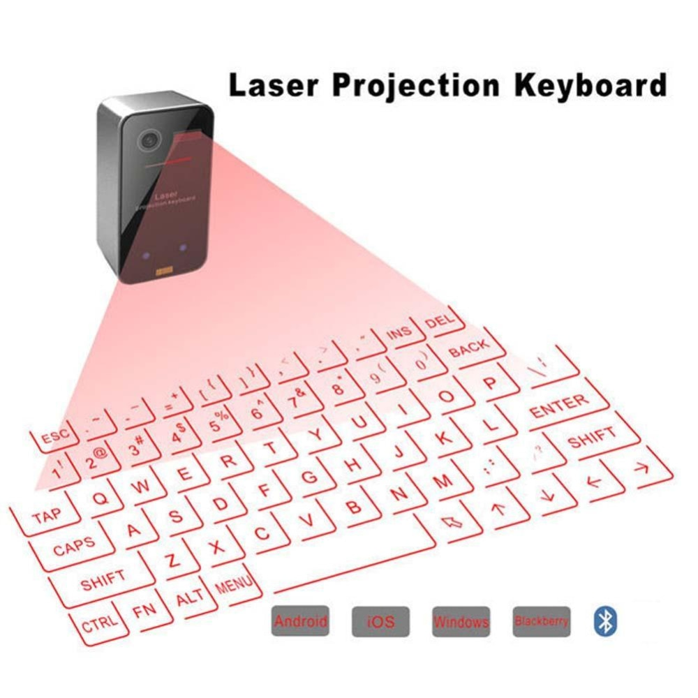 Bluetooth virtual laser keyboard Wireless Projection keyboard Portable for computer Phone pad Laptop With Mouse function hot