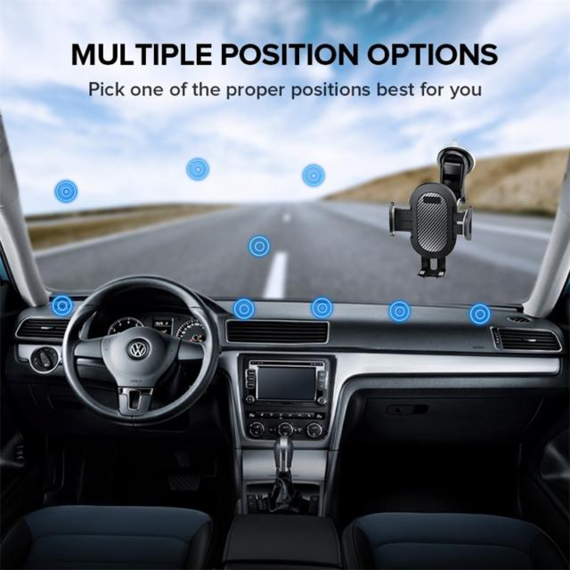 Car Phone Holder Mount Stand GPS Telefon Mobile Cell Support For iPhone 12 11 Pro Max X 7 8 Plus Xiaomi Redmi Huawei
