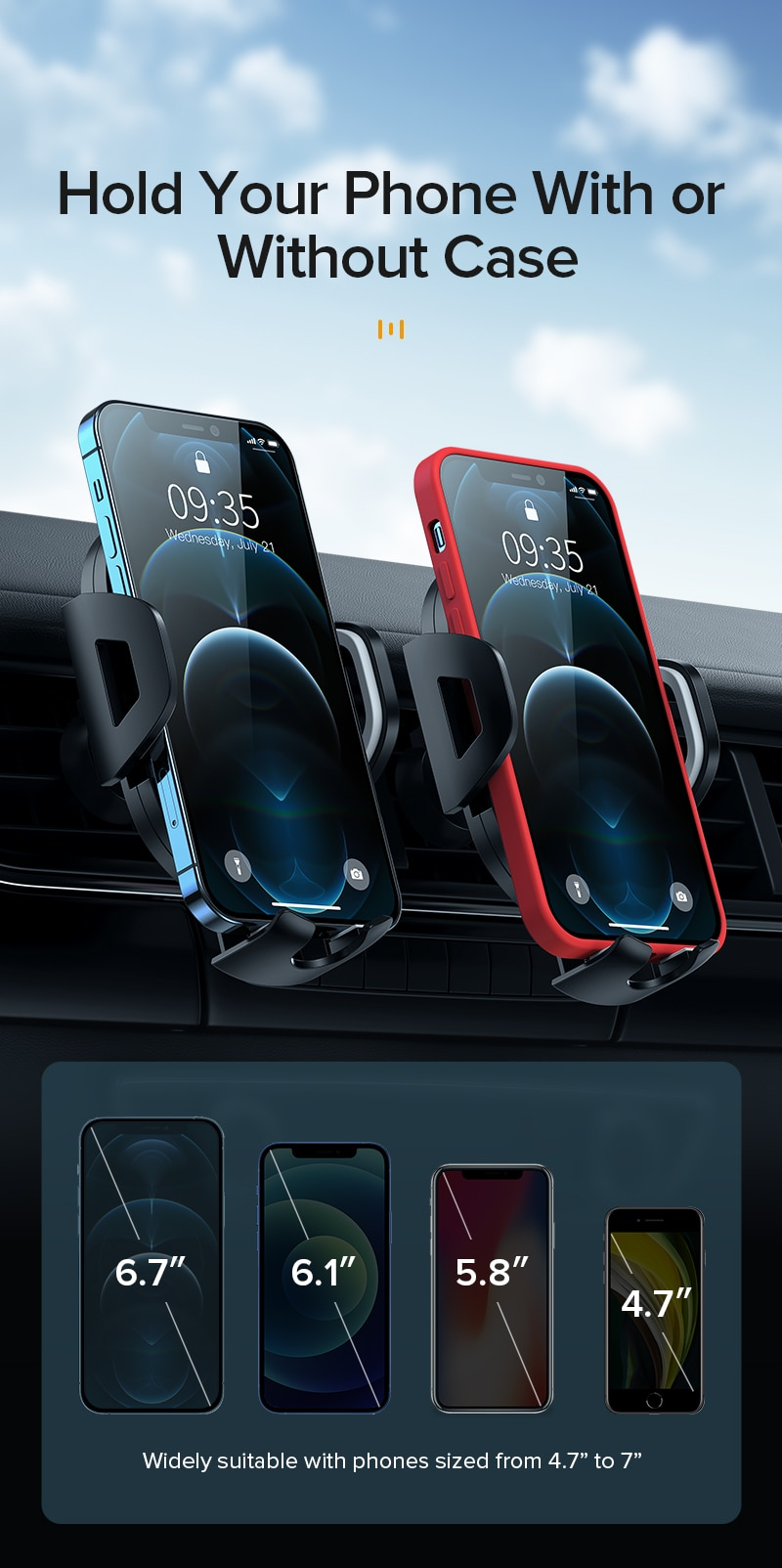 INIU Sucker Car Phone Holder Mount Stand GPS Telefon Mobile Cell Support For iPhone 12 11 Pro Max X 7 8 Plus Xiaomi Redmi Huawei