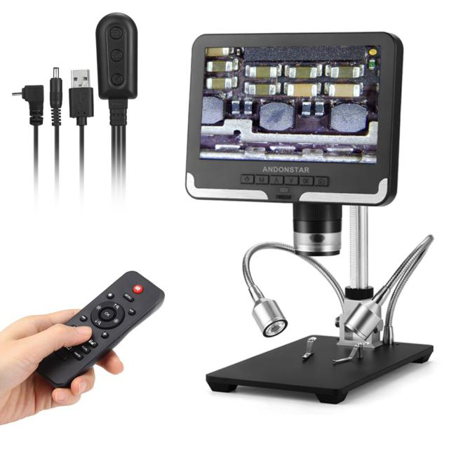 Digital Microscope for soldering AD206 1080P Soldering Microscope for Phone watch Repairing SMD/SMT Black & White