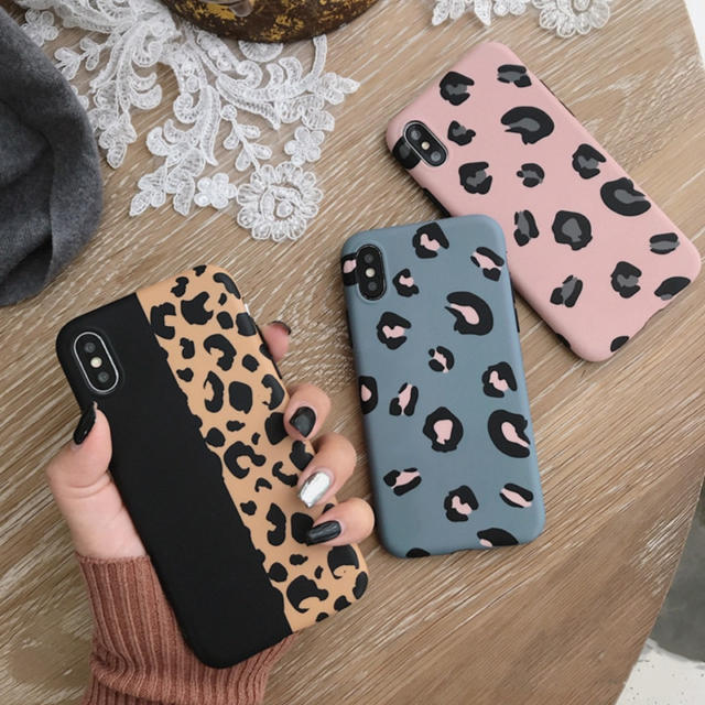 Leopard Patterned Soft Phone Case for iPhone
