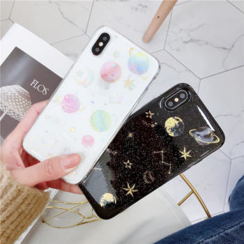 Planet Patterned Soft Phone Case for iPhone