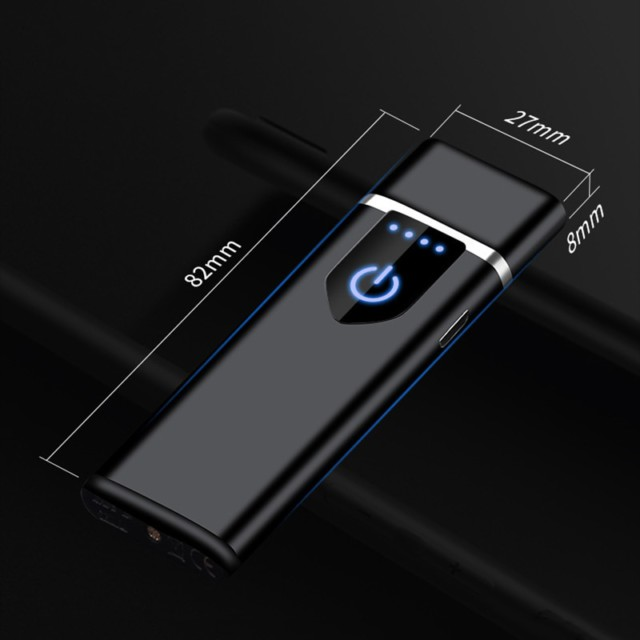 Windproof Dual Arc Lighter Plasma Rechargeable USB Cigarette Lighter Electric Metal Lighters With LED Power Display Men Gadgets