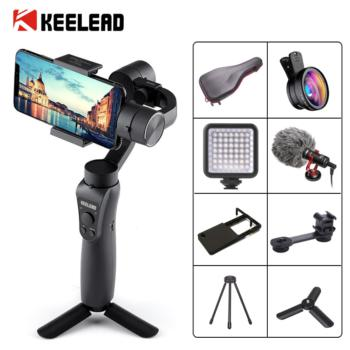 3-Axis Handheld Gimbal Stabilizer Focus Pull Zoom for Smartphone Phone Action Camera Video Record Vlog Live